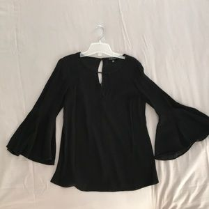 ETCETERA Black Blouse w/Bell Sleeves